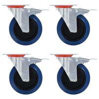 vidaXL 12 pcs Roulettes pivotantes 125 mm
