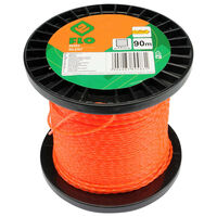 FLO Fil de coupe-herbe Silent 2 mm 90 m Orange