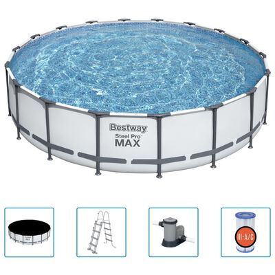 Bestway Ensemble de piscine Steel Pro MAX 549x122 cm