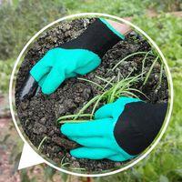 Gants de jardin avec griffes du bout des doigts pour le jardinage, le