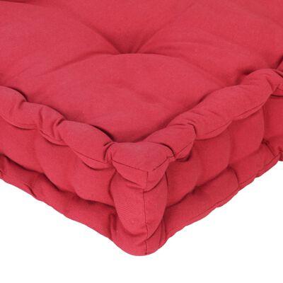 vidaXL Coussin de plancher de palette Coton 120x40x7 cm Bordeaux