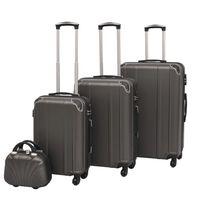 vidaXL Ensemble de valises à roulettes quatre pièces Anthracite