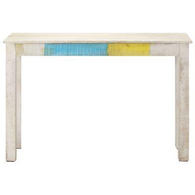 vidaXL Table console Blanc 115x35x77 cm Bois de manguier brut
