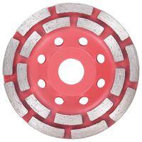 vidaXL Disque de broyage diamanté à double ligne 115 mm
