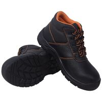vidaXL Chaussures de sécurité Noir Pointure 41 Cuir