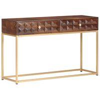 vidaXL Table console 122x36x75 cm Bois de manguier massif