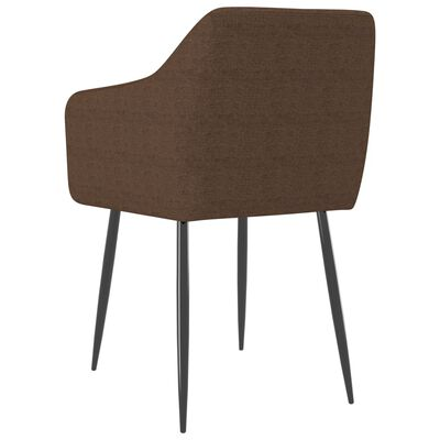 vidaXL Chaises de salle à manger 4 pcs Marron Tissu