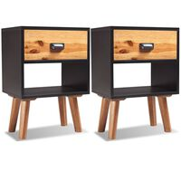 vidaXL Table de chevet 2 pcs Bois massif d'acacia 40 x 30 x 58 cm