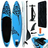 vidaXL Ensemble de planche SUP gonflable 305x76x15 cm Bleu