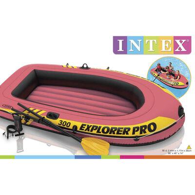 Intex Canot gonflable Explorer Pro 300 avec rames et pompe 58358NP