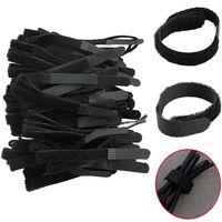 100pcs de câble d'attaches en nylon avec trou d'oeillet -