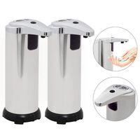vidaXL Distributeur automatique de savon 2 pcs Capteur IR 600 ml