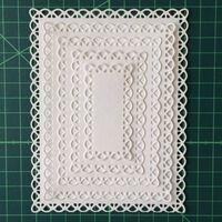 Ensemble de cadre rectangle lacé matrices de découpe en métal 5