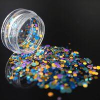 Paillettes acryliques de paillettes d'ongle laser splarkly,