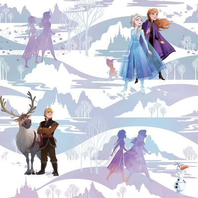 Kids at Home Papier peint Frozen Scene Violet