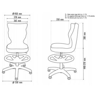 Entelo Chaise de bureau ergonomique enfants Petit VS08 Rose et blanc