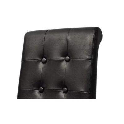 vidaXL Chaises de salle à manger 2 pcs Noir Similicuir