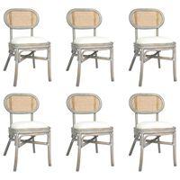 vidaXL Chaises de salle à manger 6 pcs Gris Lin