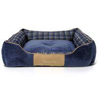 Scruffs Lit à boîte pour chien Highland Bleu XL