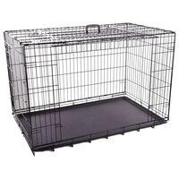 FLAMINGO Cage en fil métallique et porte coulissante XXL 124x77x81,5cm