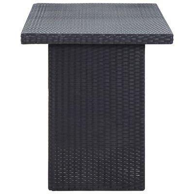 vidaXL Table de jardin Noir 110x60x74 cm Résine tressée