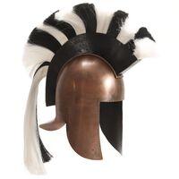 vidaXL Casque de guerrier grec antique pour GN Cuivre Acier
