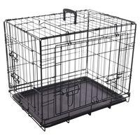 FLAMINGO Cage en fil métallique avec porte coulissante 62x45x49,5 cm
