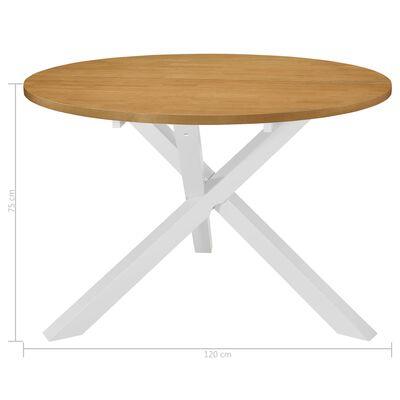 vidaXL Table de salle à manger Blanc 120 x 75 cm MDF