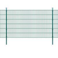 vidaXL Panneaux et poteaux de clôture 2D pour jardin 2008x1230 mm 28 m