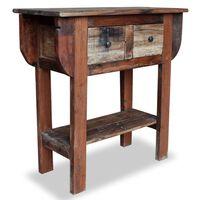 vidaXL Table console Bois de récupération massif 80 x 35 x 80 cm