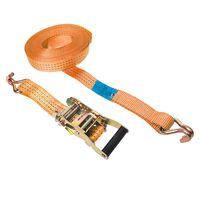 Courroie d'attache avec cliquet + 2 crochets ProPlus 8 m 3000 kg