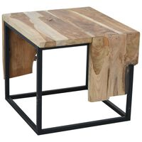 Ambiance Table d'appoint Teck 54x50x46 cm