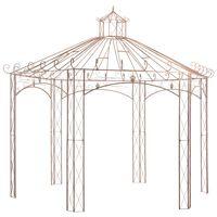 vidaXL Pavillon de jardin Marron antique 4 m Fer