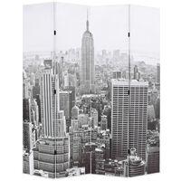 vidaXL Cloison de séparation pliable 160x170 cm New York Noir et blanc