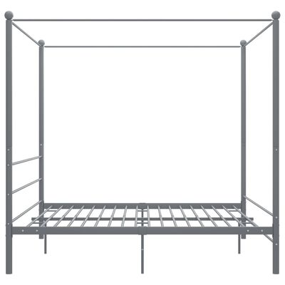 vidaXL Cadre de lit à baldaquin Gris Métal 180x200 cm