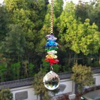 Arc-en-ciel artisanal, guirlande de perles en cristal acrylique avec