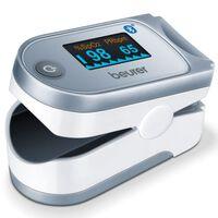 Beurer Oxymètre de pouls à Bluetooth PO 60 Blanc et gris