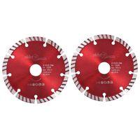 vidaXL Disques de coupe diamantés 2 pcs avec acier turbo 125 mm