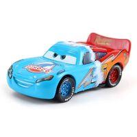 3 Disney Pixar Cars Finition Métallique Or Chrome McQueen Métal