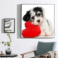 Amour chien conception pleine perceuse ronde à la main 5d bricolage