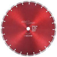 vidaXL Disque de coupe diamanté avec turbo Acier 350 mm