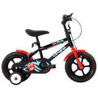 vidaXL Vélo pour enfants 12 pouces Noir et rouge