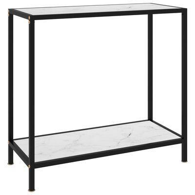 vidaXL Table console Blanc 80x35x75 cm Verre trempé