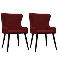 vidaXL Chaises de salle à manger 2 pcs Rouge Velours