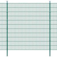 vidaXL Panneaux et poteaux de clôture 2D pour jardin 2008x2230 mm 10 m