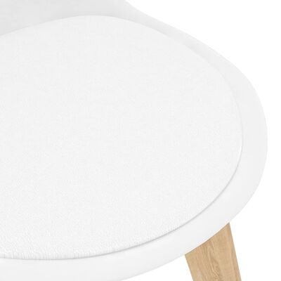 vidaXL Ensemble de salle à manger 7 pcs Blanc