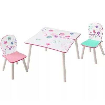 Worlds Apart Ensemble de table et de chaises 3 pcs Birds