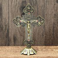 Jésus christ sur le stand croix figurine 21cm - reliques