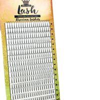 16lines premade russian volume fans cils longue tige cils