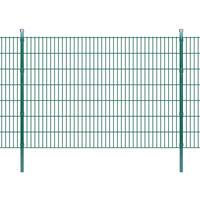 vidaXL Panneaux et poteaux de clôture 2D pour jardin 2008x1430 mm 14 m